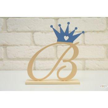 """Буква """"В"""" изящная с короной"""