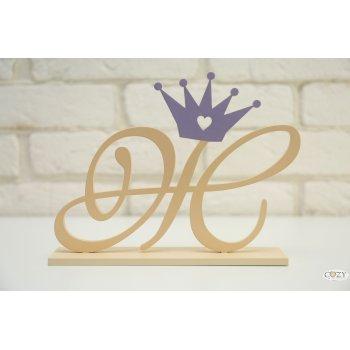 """Буква """"Ж"""" изящная с короной"""