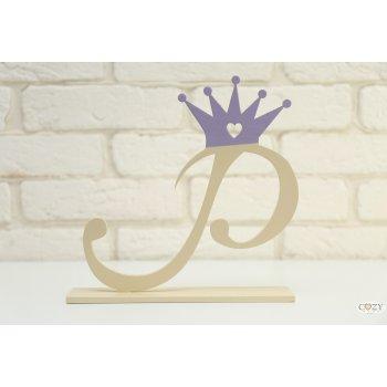 """Буква """"Р"""" изящная с короной"""